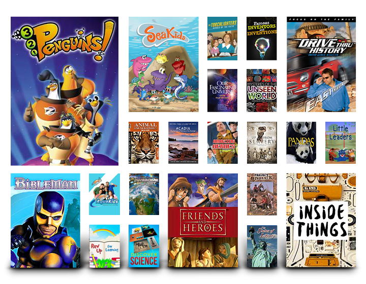 homeschool movie collage on Pure Flix